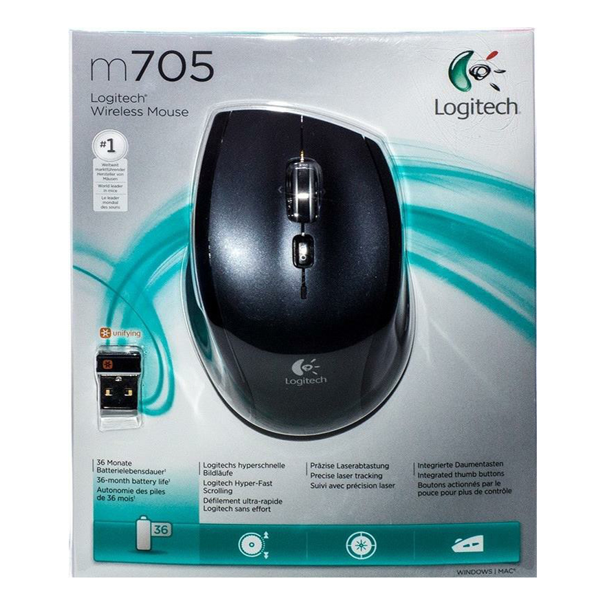 Мышь Logitech Wireless Mouse M705 USB