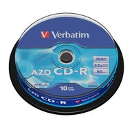 Диски Verbatim CD-R 700 Mb 52х DL Cake Box 10 штук