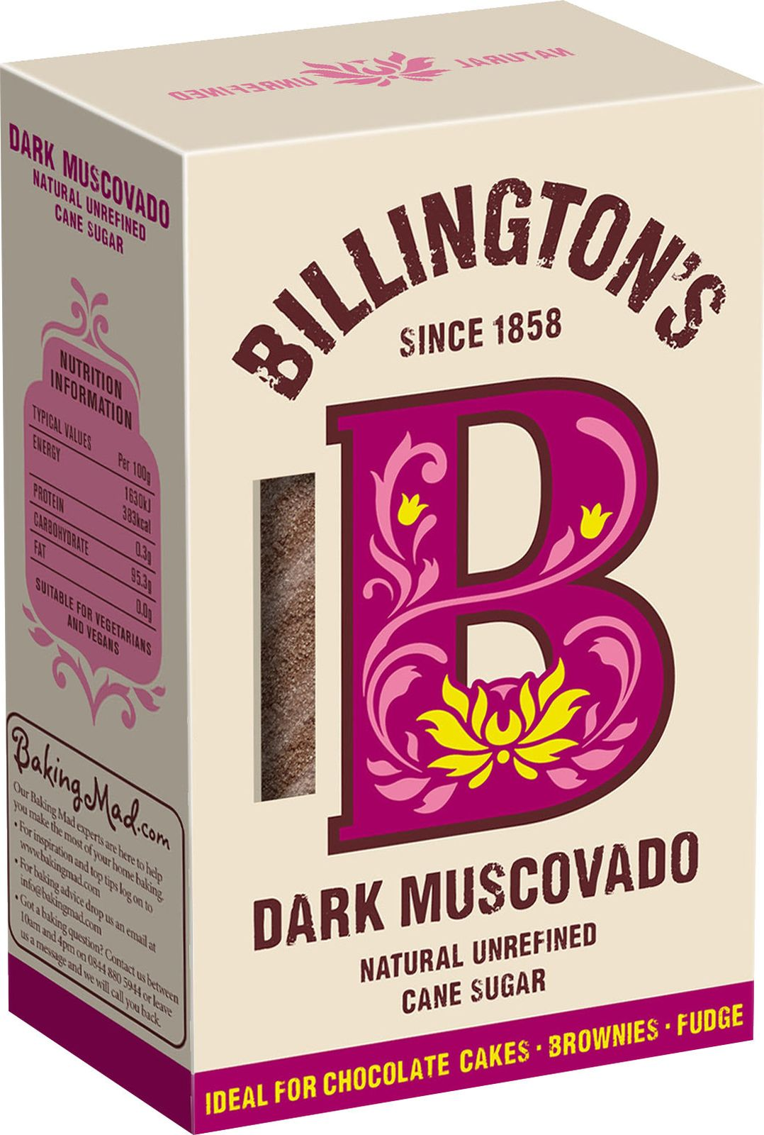 Сахар Billington's Dark Muscovado