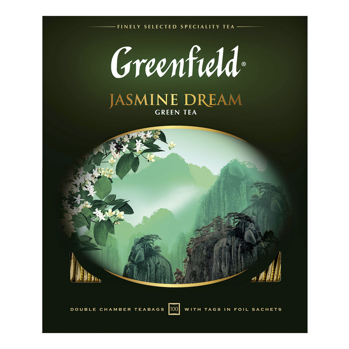 Чай зеленый Greenfield Jasmine Dream в пакетиках 2 г 100 шт