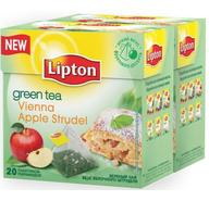 Чай зеленый Lipton Vienna Apple Strudel пирамидки