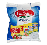 Сыр Galbani Mozzarella Ball рассольный tris 45%
