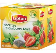 Чай черный Lipton Strawberry Mint пирамидки