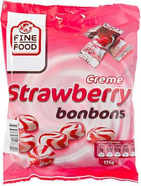Леденцы Fine Food Strawberry bonbons