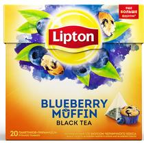 Чай черный Lipton Blueberry Muffin пирамидки
