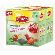 Чай зеленый Lipton Strawberry Cake пирамидки
