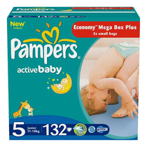Подгузники Pampers Active Baby-Dry 5 Junior 11-18 кг