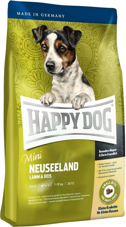 Корм Happy Dog Supreme - Mini Neuseeland ягненок с рисом для собак