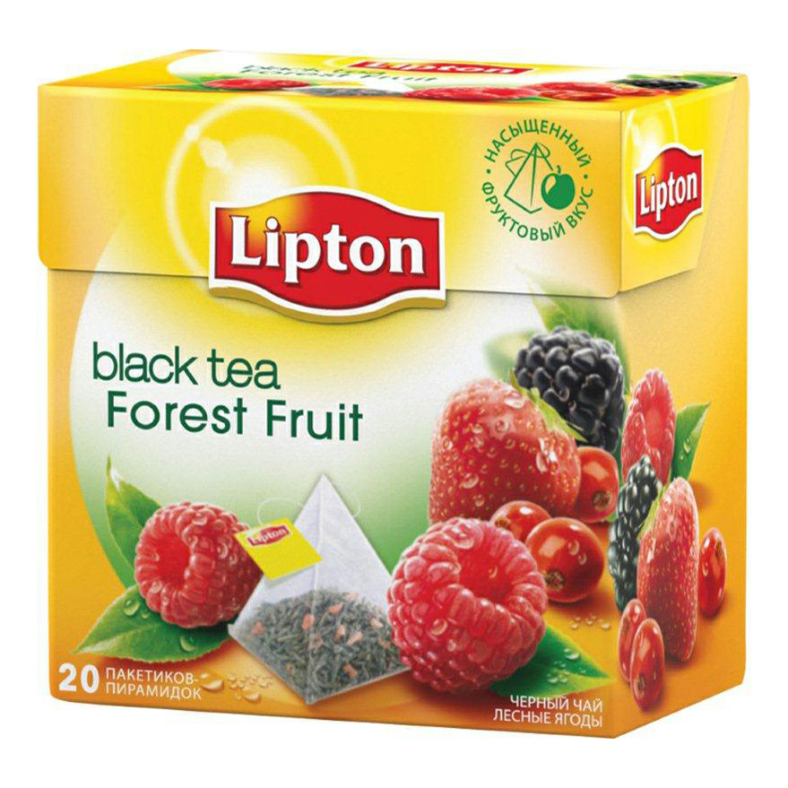 Чай Lipton Forest Fruit черный в пирамидках