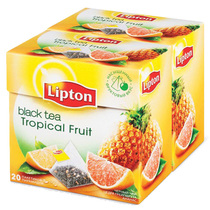 Чай Lipton Tropical Fruit черный в пирамидках