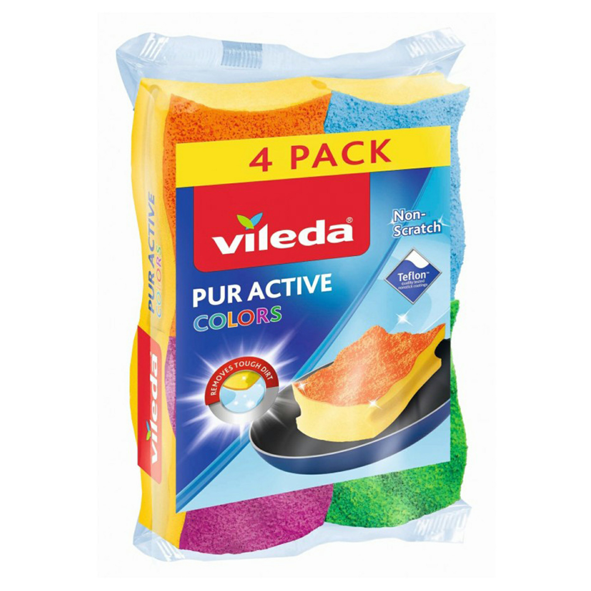 Губка Vileda Pure Colors 4 шт