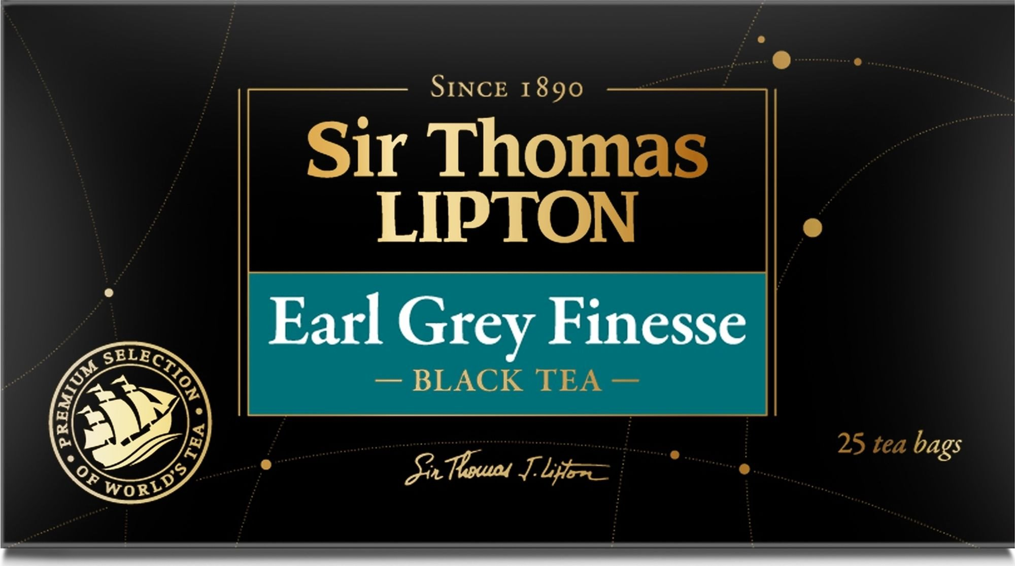 Чай черный Lipton Sir Thomas Earl Grey Finesse