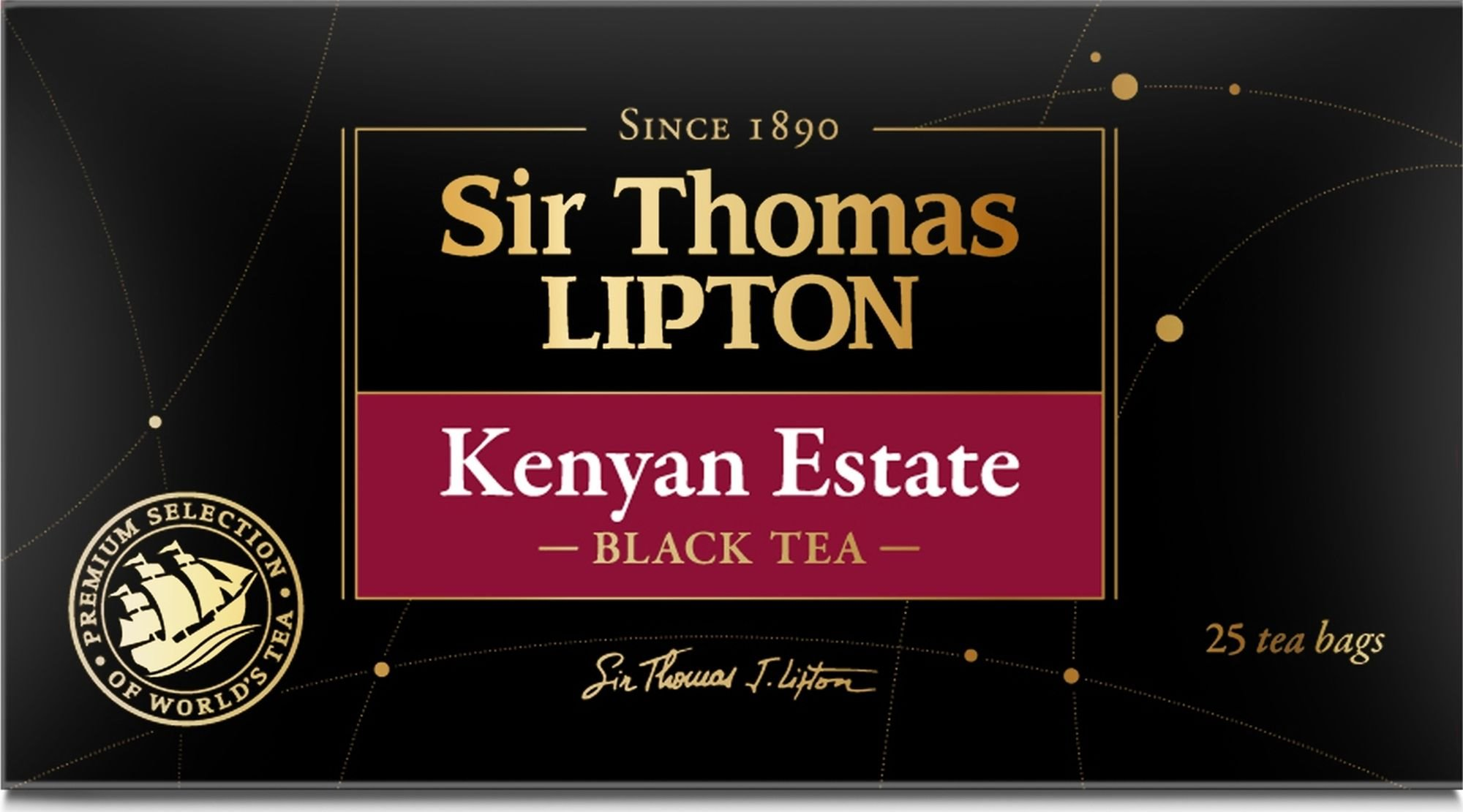 Чай черный Lipton Sir Thomas Kenyan Estate