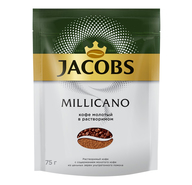 Кофе Jacobs Monarch Millicano молотый в растворимом 75 г