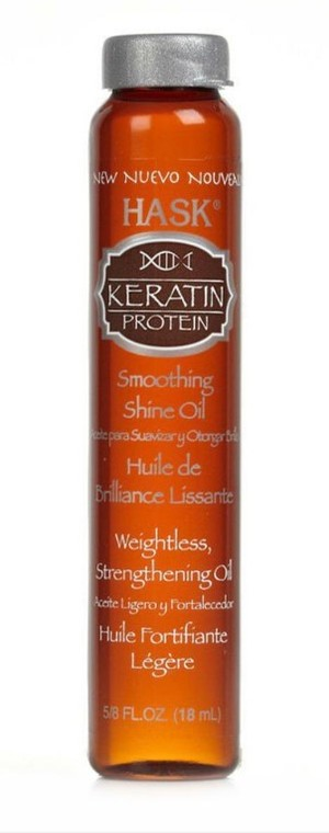 Масло Hask Keratin Protein Smoothing Shine oil для волос